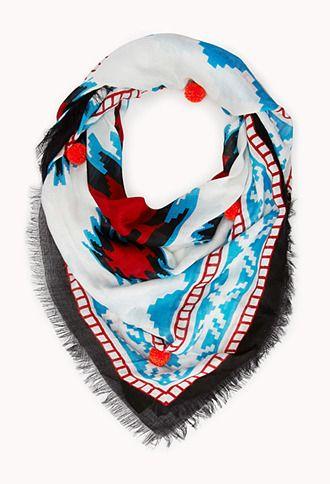 サウスウエスタンなスカーフ Forever 21 サウスウエスタンポンポンストール / Southwestern scarf on ShopStyle