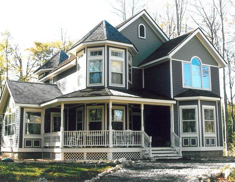 Victorian Style Two Story With Turret Roof And Wrap Around Porch Description From Philandlees C Bungalow House Design Modular Home Prices Bungalow House Plans