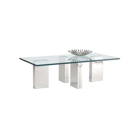 Kasala Modern glass cocktail table coffee table Modern