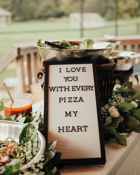 outdoor small intimate pizza wedding ideas