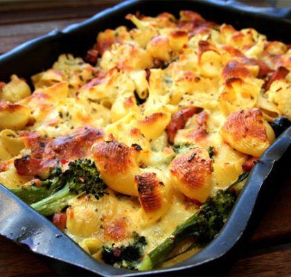 Pastagratang Med Kalkon Mozzarella Och Broccoli Recept Kalkon Nyttiga Maltider Och Recept