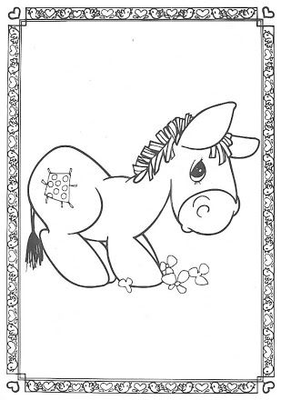 Fotograf Burrito Pm Precious Moments Coloring Pages Animal