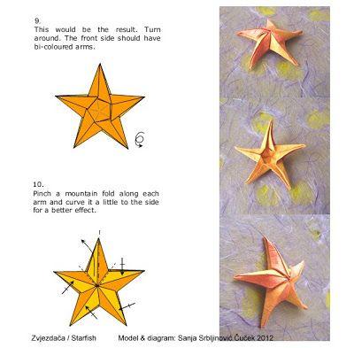 El Arte Del Origami Estrella De Mar Estrella De Mar Arte Origami Arte Del Origami