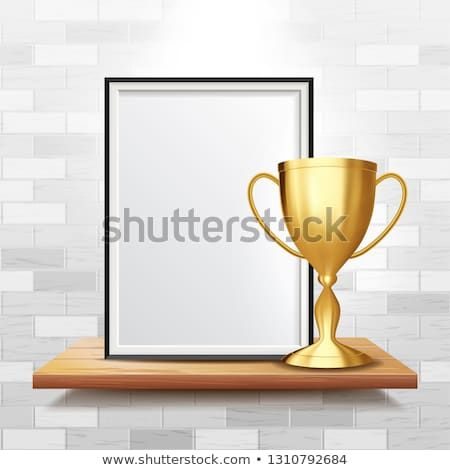 Certificate Diploma With Golden Cup Vector  Achievement