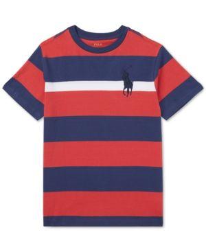 Polo Ralph Lauren Little Boys Striped Cotton Jersey T Shirt