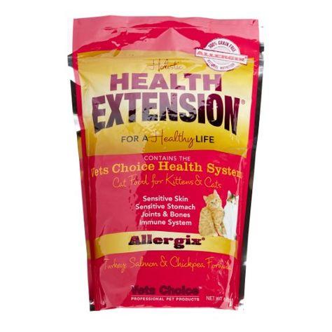 Holistic Health Extension Grain Free Turkey Salmon Dry Cat Food 4 Lb Prebiotics Probiotics Food Allergies Food