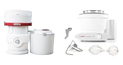 Bosch Mum6n10uc Universal Plus Stand Mixer 800 Watt 6 5 Quarts With Nutrimill Plus Grain Mill Review Stand Mixer Grain Mill Juicer For Sale