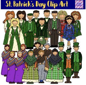St Patrick S Day Clip Art Irish Traditions Irish Clothing Traditional Irish Clothing