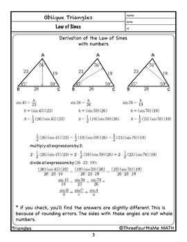 Law Of Sines Derivation With Images Law Of Sines Law Sines