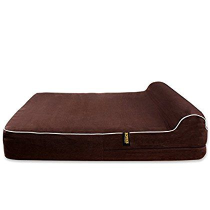 Dog Bed Replacement Cover For Kopeks Memory Foam Beds Brown Extra Large Jumbo Size Find Out More About Th Memory Foam Dog Bed Dog Bed Memory Foam Beds