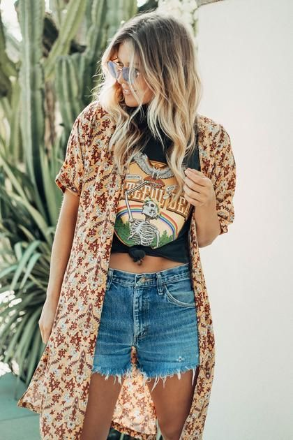 Grateful Dead Vintage Tee Hippie Outfits Outfits With Hats Boho Outfits