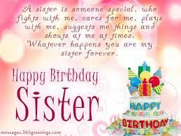 Birthday Wishes For Sister 10 Greetings Blessings Birthday