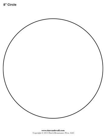 Circle Template 8 Inch Libros De Fieltro Patrones