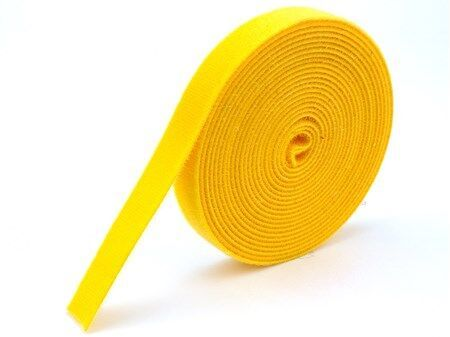 1 2 Inch Continuous Yellow Hook And Loop Wrap 10 Yards In 2020 Continuity Shear Strength Cable Ties