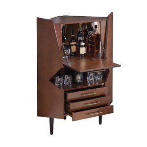 Wrought Studio Hester Corner Bar Cabinet Corner Bar Corner Bar