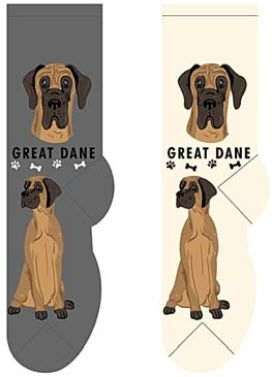 Fcc 020 Great Dane Great Dane Funny Crew Socks Pup