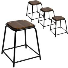 Patty Industrial Stools Set Of 4 Alpha Races Fashions