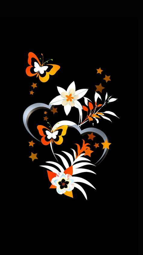 Fall color butterflies w/ hearts