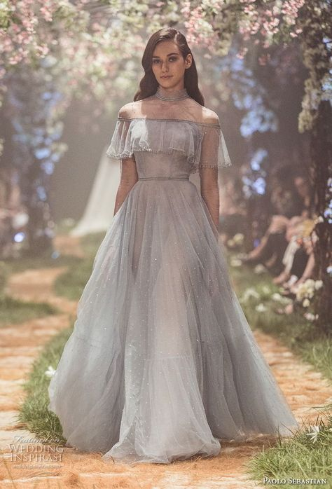 """Paolo Sebastian Spring 2018 Couture Collection — """"Once Upon A Dream"""" - Welt der Hochzeit Trendy Dresses, Fashion Dresses, Prom Dresses, Formal Dresses, Dress Prom, Dress Outfits, 80s Dress, Short Dresses, Collection Couture"""