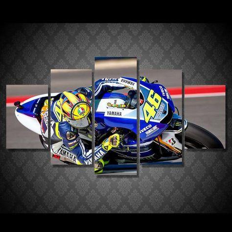 Valentino Rossi Moto Gp Bike Canvas Print Wall Art