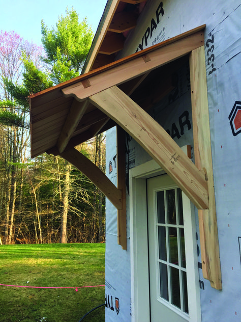 Over the windows for the barn house.Good porch roof end to refresh your home