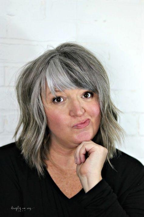 Haare rauswachsen lassen strähnchen graue Zurück zur