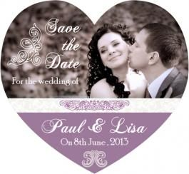 3.25x3 Heart Shaped Wedding Save the Date Magnets 20 mil - Wedding Magnets