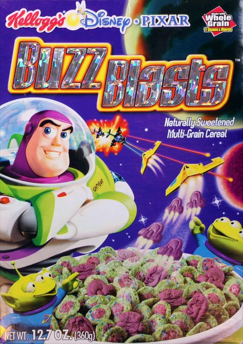 All about Buzz Blasts Cereal from Kellogg's - pictures and information including commercials and cereal boxes if available. You can vote for Buzz Blasts or leave a comment. Comida Disney, Disney Food, Kids Cereal, Cereal Boxes, Cereal Packaging, Cornflakes, Cereal Killer, Healty Dinner, Breakfast Cereal