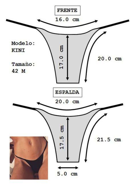 Tanga Basica - Teoria by Moldes / Patrones Bikinis y Tangas / Colaless - Thongs Patterns - issuu