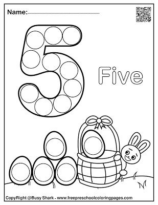 Set Of 123 Easter Dot Marker Free Pages In 2020 Dot Marker Activities Dot Markers Preschool Coloring Pages