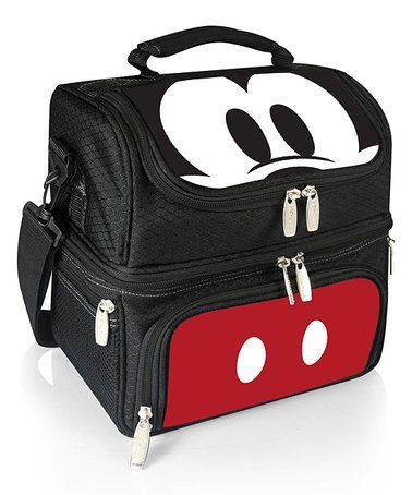 This Blac Mickey Mouse Pranzo Lunch Tote Is Perfect Zulilyfinds Lunch Tote Mickey Mouse Bags