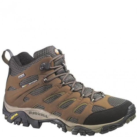 87701W Merrell Men's Moab Mid Wide Hiking Shoes Dark Earth