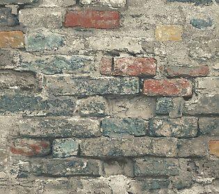 Brick Alley Blue Wall Decal Qvc Com Blue Walls Stone Accent Walls Wall Color Combination