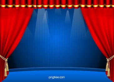 Red Curtain Stage Lighting Banner Background Stage Curtains Curtains Free Background Photos