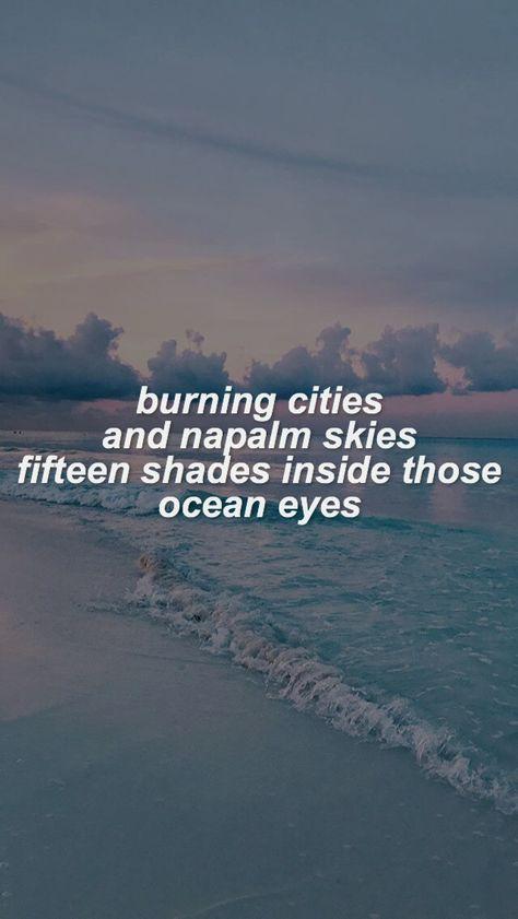 Quotes Wallpaper Lyrics Billie Eilish 21 Ideas Song Lyrics Wallpaper Billie Eilish Ocean Eyes Ocean Eyes Lyrics