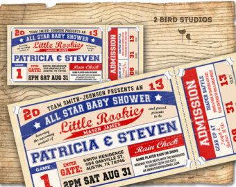 Vintage Baseball Baby Shower Invitations Google Search