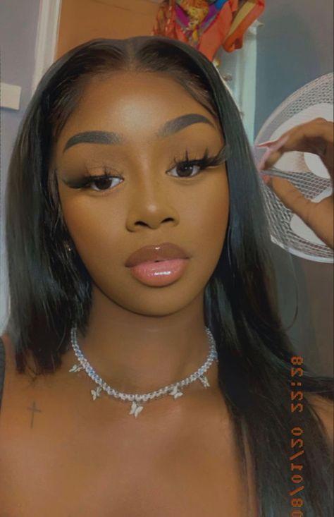 New Year's Makeup, Natural Makeup, Hair Makeup, Flawless Face, Flawless Makeup, Contour Makeup, Eyebrow Makeup, Black Girl Aesthetic, Magical Makeup