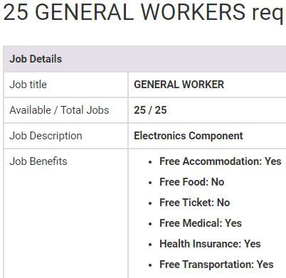 General Worker Jobs In Malaysia 2019 General Worker Online Jobs Job