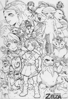 Zelda Ocarina Of Time Who Wants To Color Adult Doodle Art Coloring Pages Legend Of Zelda