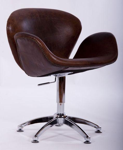 Sessel designklassiker  Büro Leder Drehstuhl MANO Sessel Designklassiker Stuhl Ledersessel ...