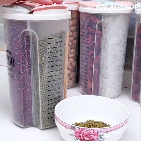 THIS ROTATING KITCHEN DRY FOOD  STORAGE TANK CONTAINERS WILL KEEP YOUR FOOD FRESH, DRY AND COMPLETELY SEALED.  It is a rotatable compartment sealed cans where you can store kitchen staples like flour, sugar, rice, nuts, beans, snack, food, cereal, coffee, or tea. Get it today!