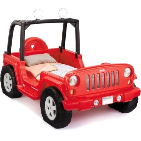 Little Tikes Jeep Wrangler Toddler To Twin Convertible Bed Red Boy