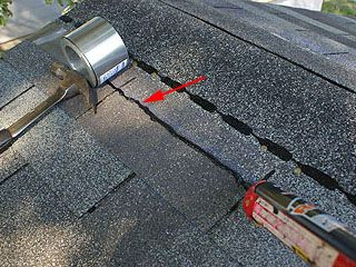 Bead Of Tar Used For Installing Zinc Strip To Prevent Mildew And