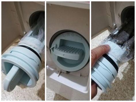 ドラム式洗濯機の排水フィルターのゴミ取りは キッチンの水切りネット