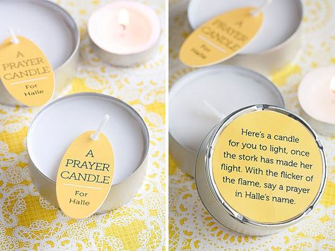 Baby Shower Favors; tea candles; easy and cheap;