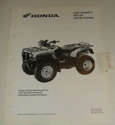 2001 03 Honda Trx500 Rubicon Wiring Diagram Parts Guide Set Up Insturctions In 2020 Honda Rubicon Monster Trucks