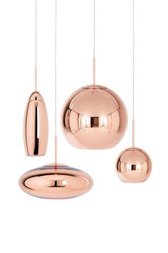 Copper Tall Pendant Light By Tom Dixon 2modern Copper Lighting Copper Hanging Lights Copper Lamps