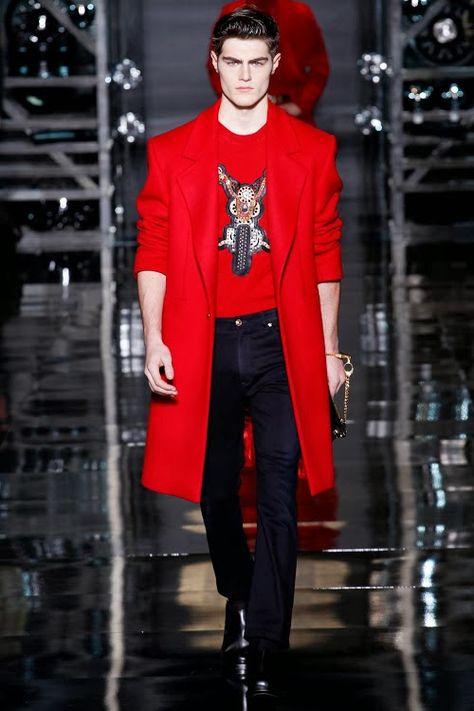 only Fashion - VERSACE AW 14 - 15   Versace men, Black