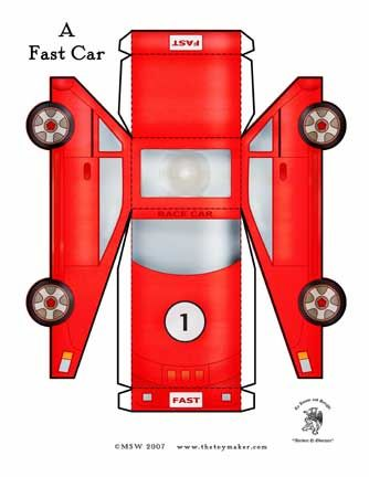 2247 best Pap images on Pinterest Paper crafts, Paper models and - printable car template