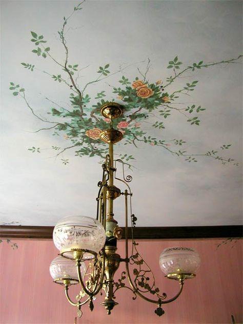 "More Ceiling Murals: Rose Medallion""> Pine Street Studios > More Ceiling Murals: Rose Medallion Source Ceiling Murals, Wall Murals, Ceiling Painting, Wallpaper Ceiling, Ceiling Ideas, Interior Decorating, Interior Design, Decorating Ideas, Decor Ideas"